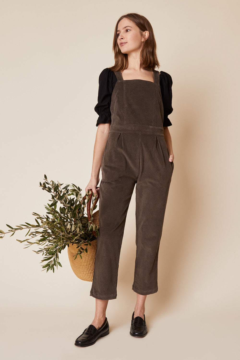 Billie Overall in Grey Cord - Whimsy & Row