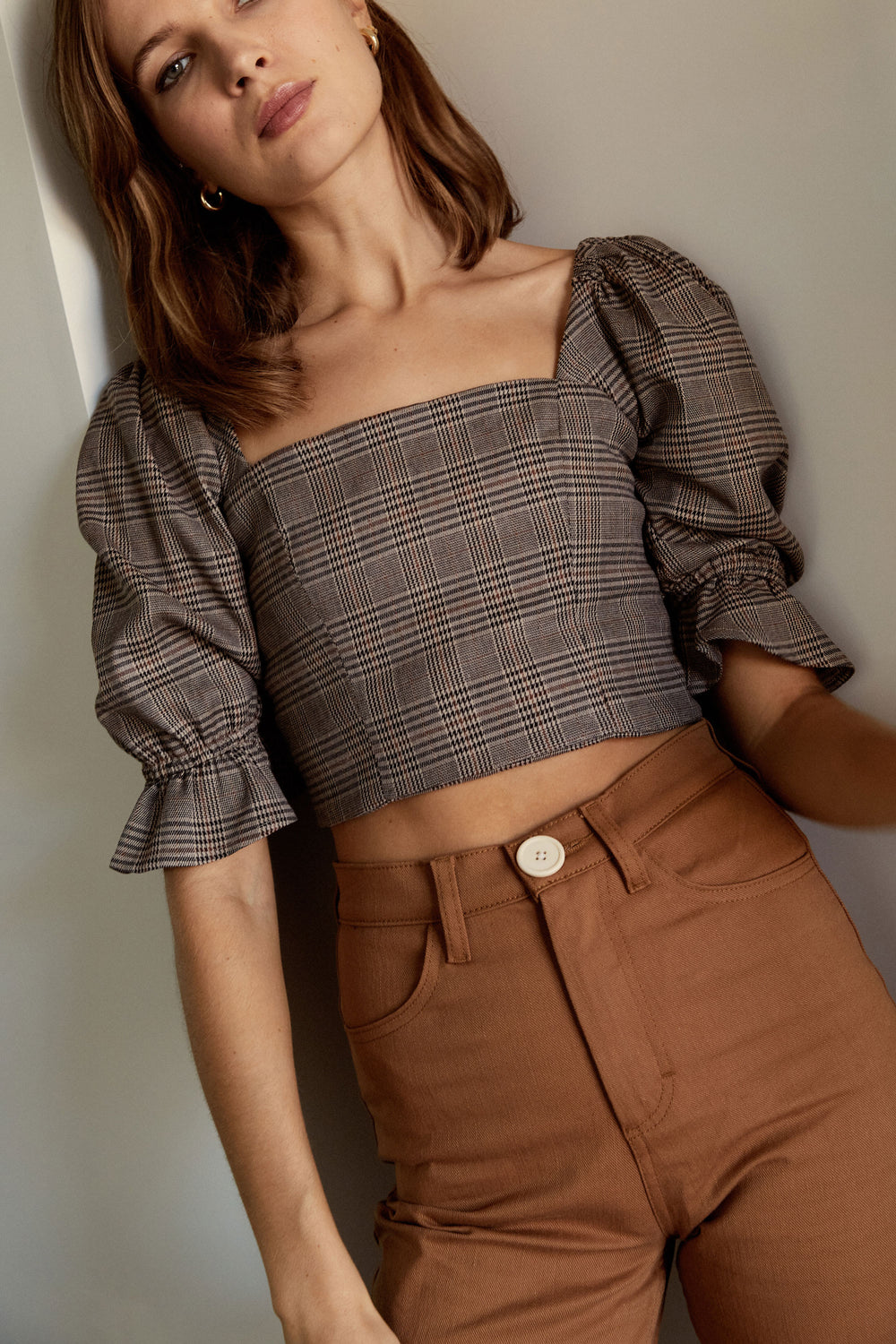 Eden Crop Top in Plaid - Whimsy & Row