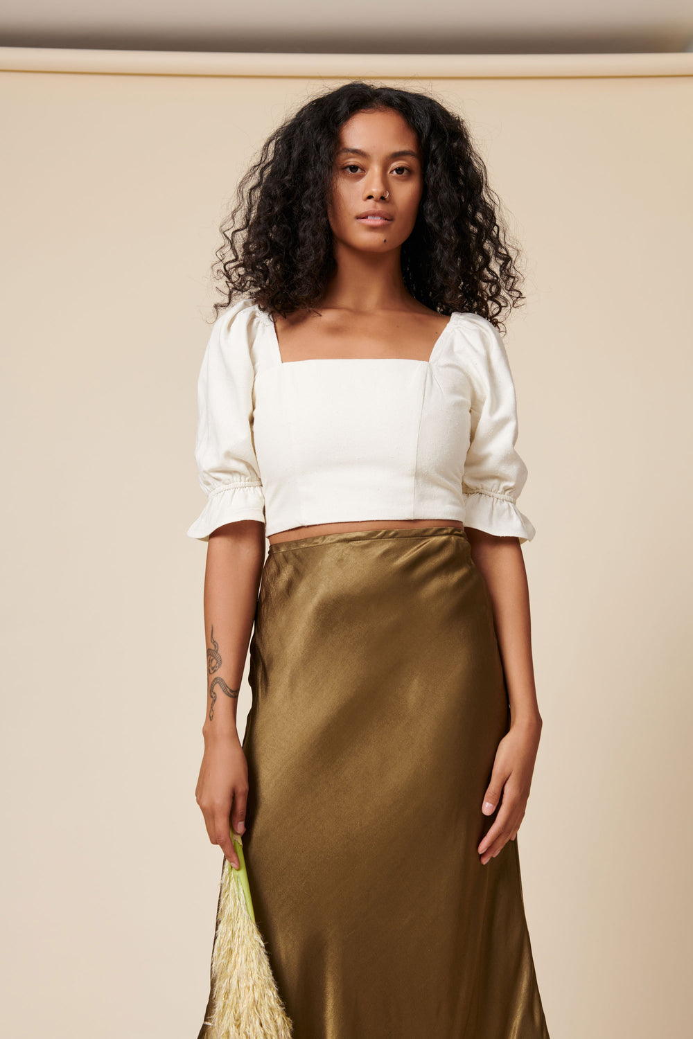 Eden Crop Top in Cream - Whimsy & Row