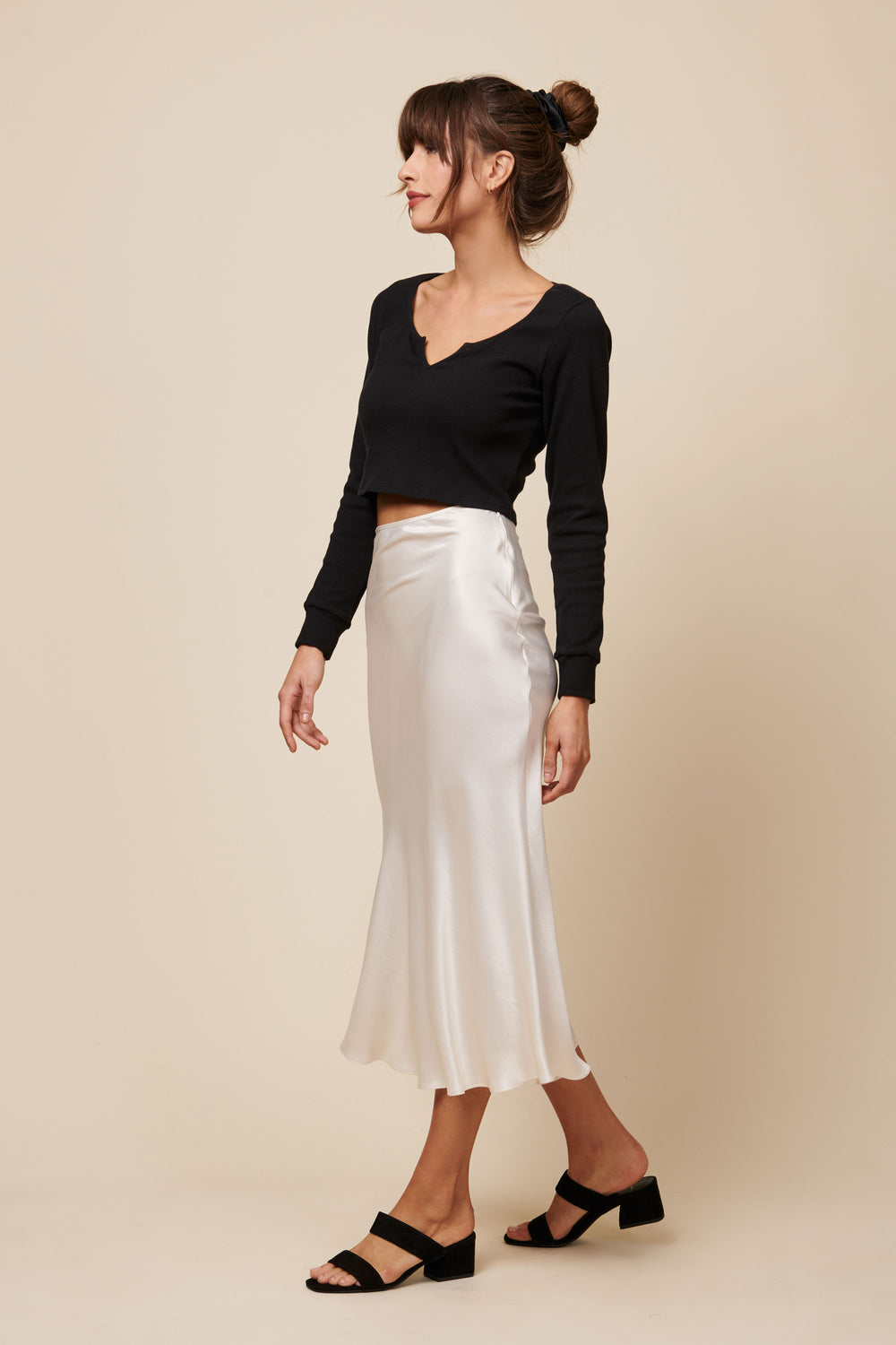 Emma Crop in Black - Whimsy & Row