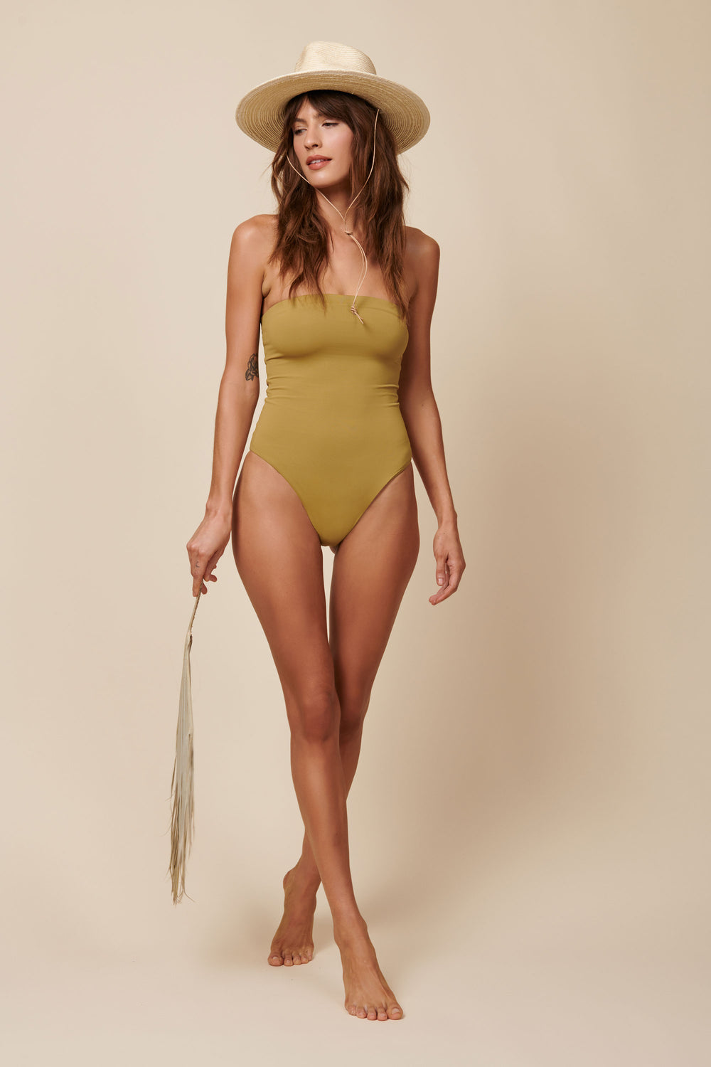 Toast Swim Tube One Piece - Fennel Seed - Whimsy & Row