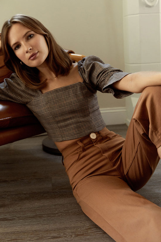 Flora Pant in Tan - Whimsy & Row