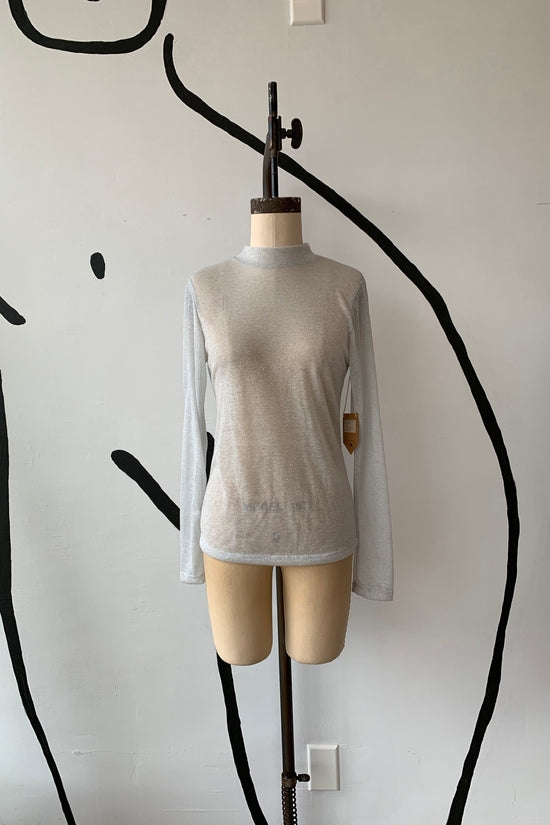 Sample Sale Gigi Top in Silver Mini Stripe - Whimsy & Row