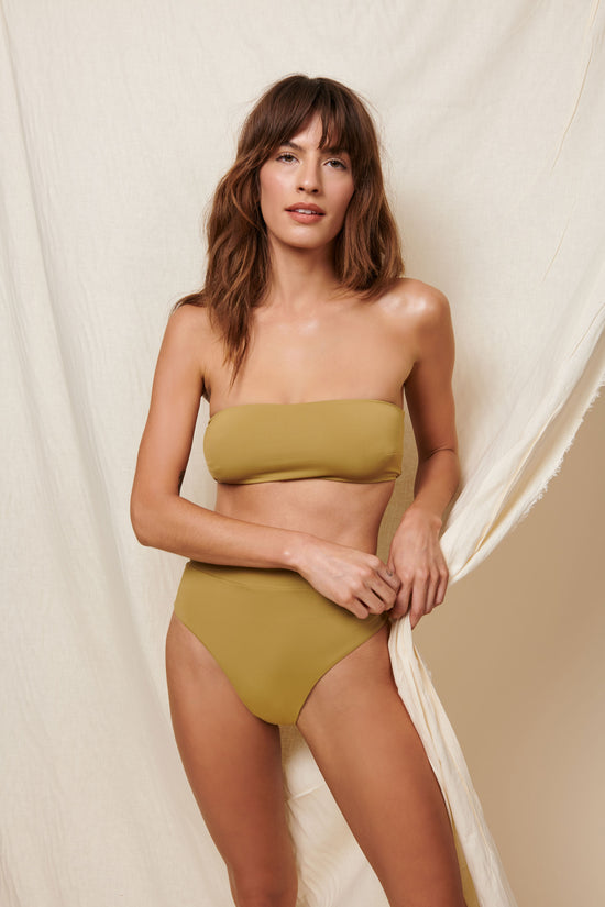 Toast Swim Bandeau Top - Fennel Seed - Whimsy & Row