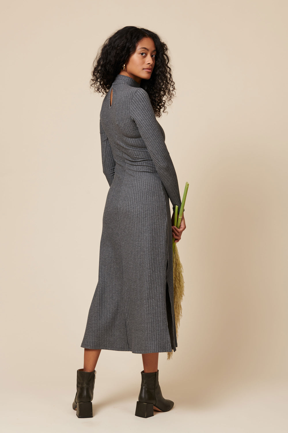 The Joan Dress in Grey - Whimsy & Row
