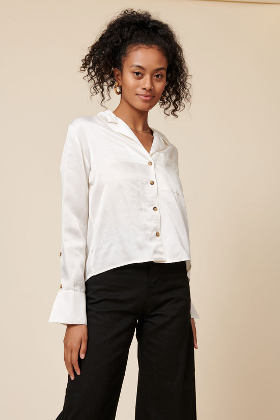 Maya Top in Cream - Whimsy & Row