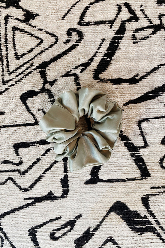 Silky Scrunchie in Sage - Whimsy & Row