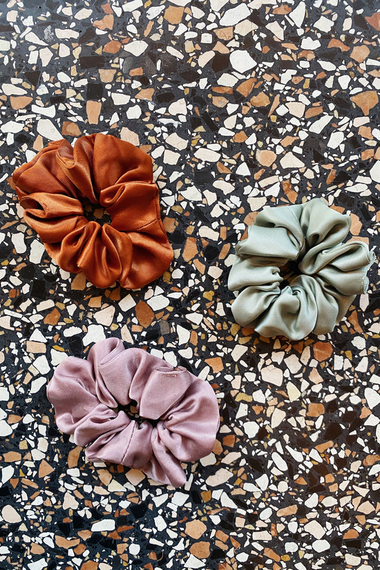 Silky Scrunchie in Rust - Whimsy & Row
