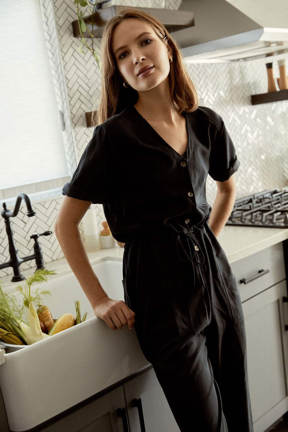 Remy Jumpsuit in Black - Whimsy & Row