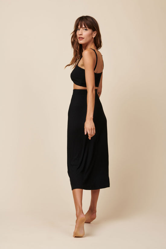 Finn Skirt in Black Rib - Whimsy & Row