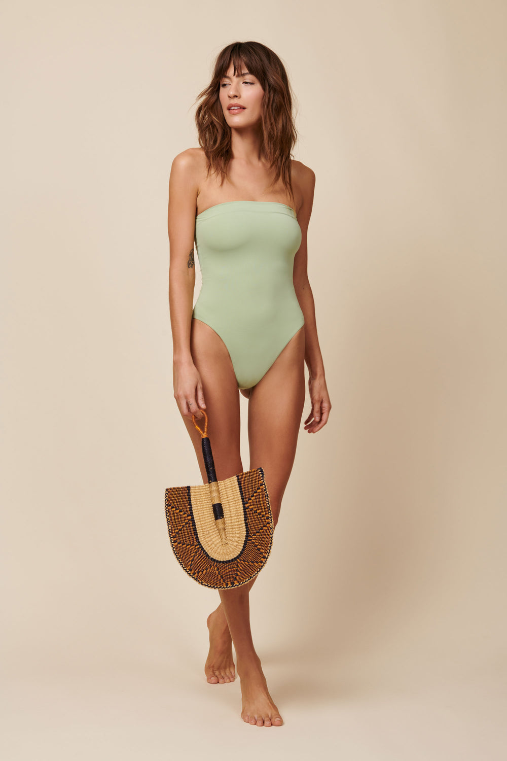 Toast Swim Tube One Piece - Desert Sage - Whimsy & Row