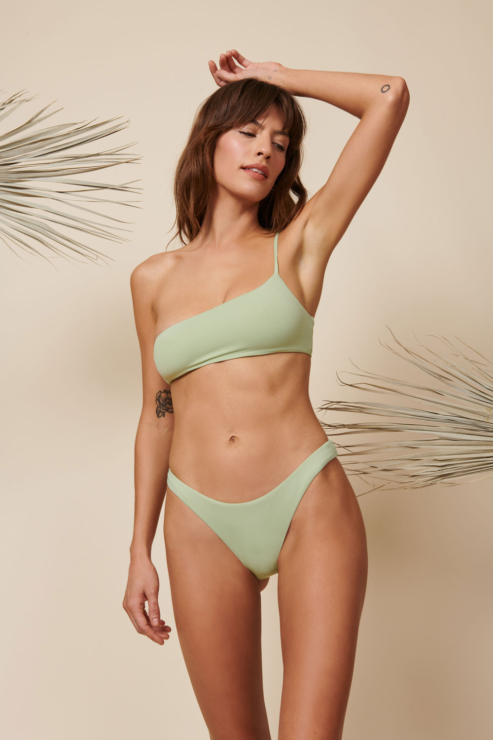 Toast Swim One Shoulder Top - Desert Sage - Whimsy & Row