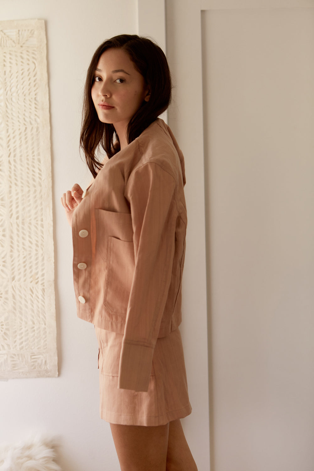 Hayden Jacket in Blush - Whimsy & Row
