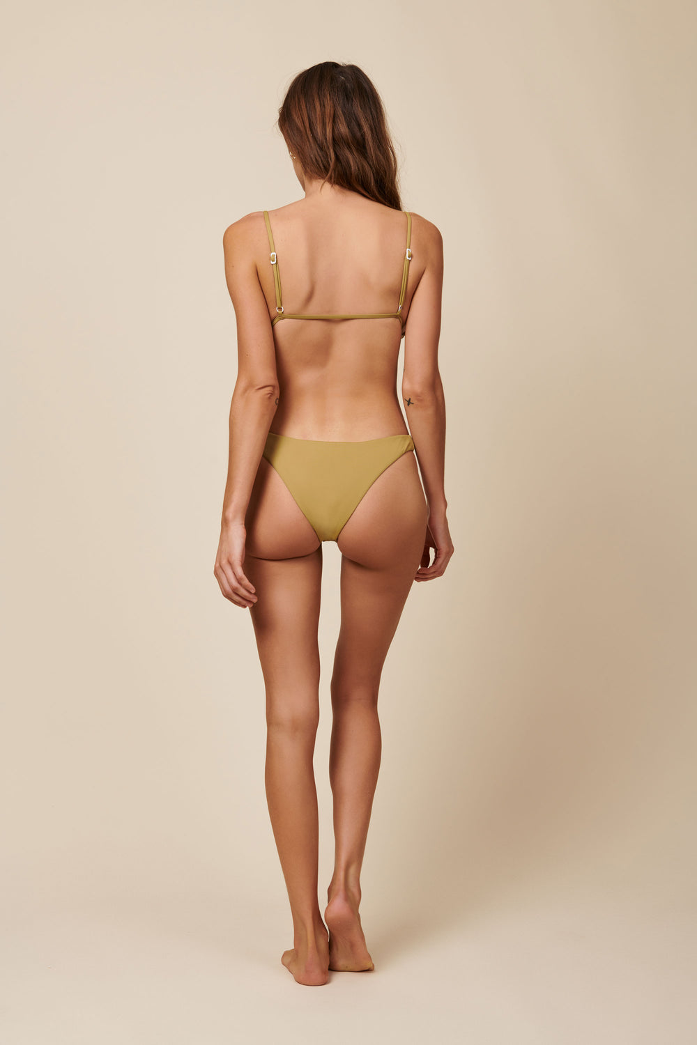 Toast Swim Signature High Hip Bottom - Fennel Seed - Whimsy & Row