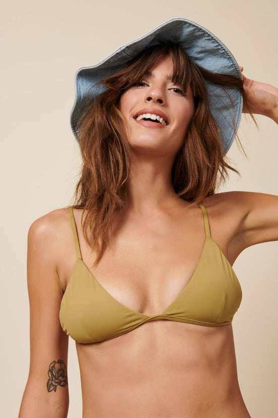 Toast Swim Triangle Top - Fennel Seed - Whimsy & Row