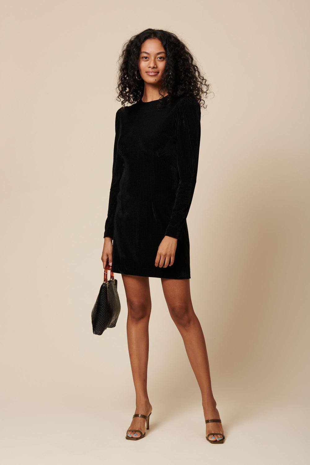 Vivian Dress in Black Velvet - Whimsy & Row