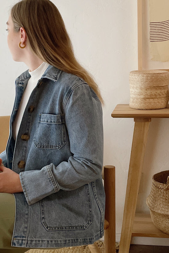 Jordan Jacket in Light Blue Denim - Whimsy & Row
