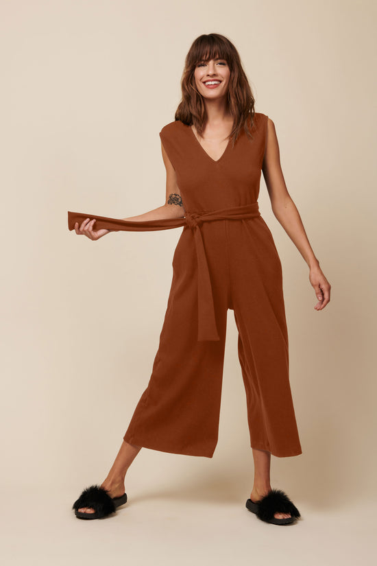 Westly Jumpsuit in Rust - Whimsy & Row