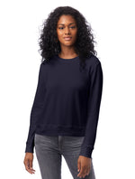 Load image into Gallery viewer, Cotton Modal Pullover Sweatshirt in Midnight