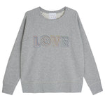 Load image into Gallery viewer, Love Sweatshirt in White Geometric