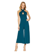 Load image into Gallery viewer, Cross Front Halter Jumpsuit in Pine Green