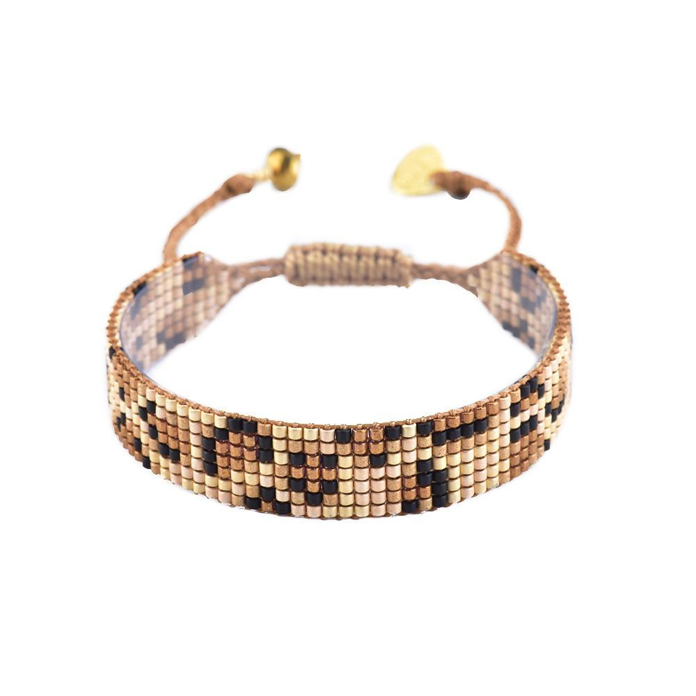 Medium Panthera Bracelet in Beige/Bronze