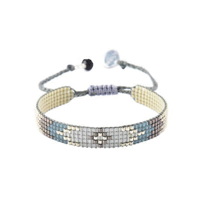 Peeky XS Beaded Bracelet in Grey/Slate