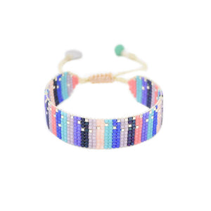 Lineal Beaded Bracelet in Pastel Sprinkle