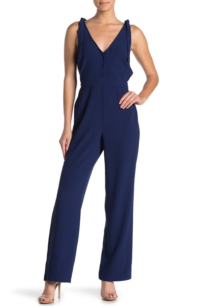 Topeka Tie Strap Jumpsuit in Lapis