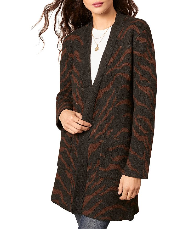 Josephine Cardigan in Black Animal Print