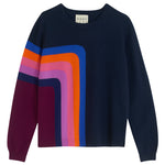 Load image into Gallery viewer, Angle Stripe Cashmere Crew Sweater