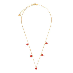 Multi Heart Necklace in Red
