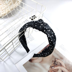 Tiny Dot Headband in Black Combo