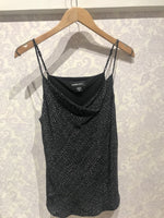 Load image into Gallery viewer, Drape Camisole in Broken Stitch Print