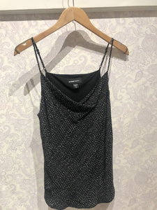 Drape Camisole in Broken Stitch Print