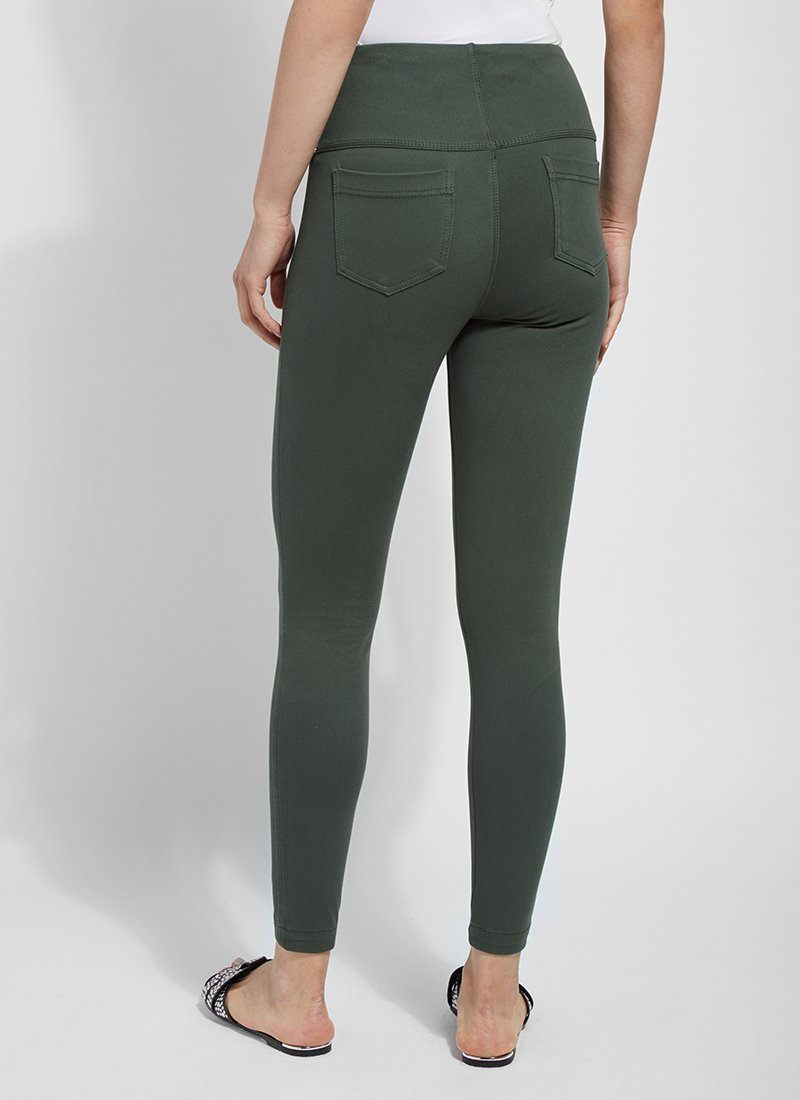 Toothpick Denim in Hunter Green