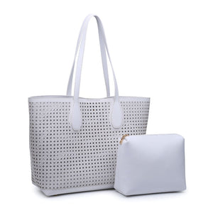 Brazil Laser Cut Tote in White