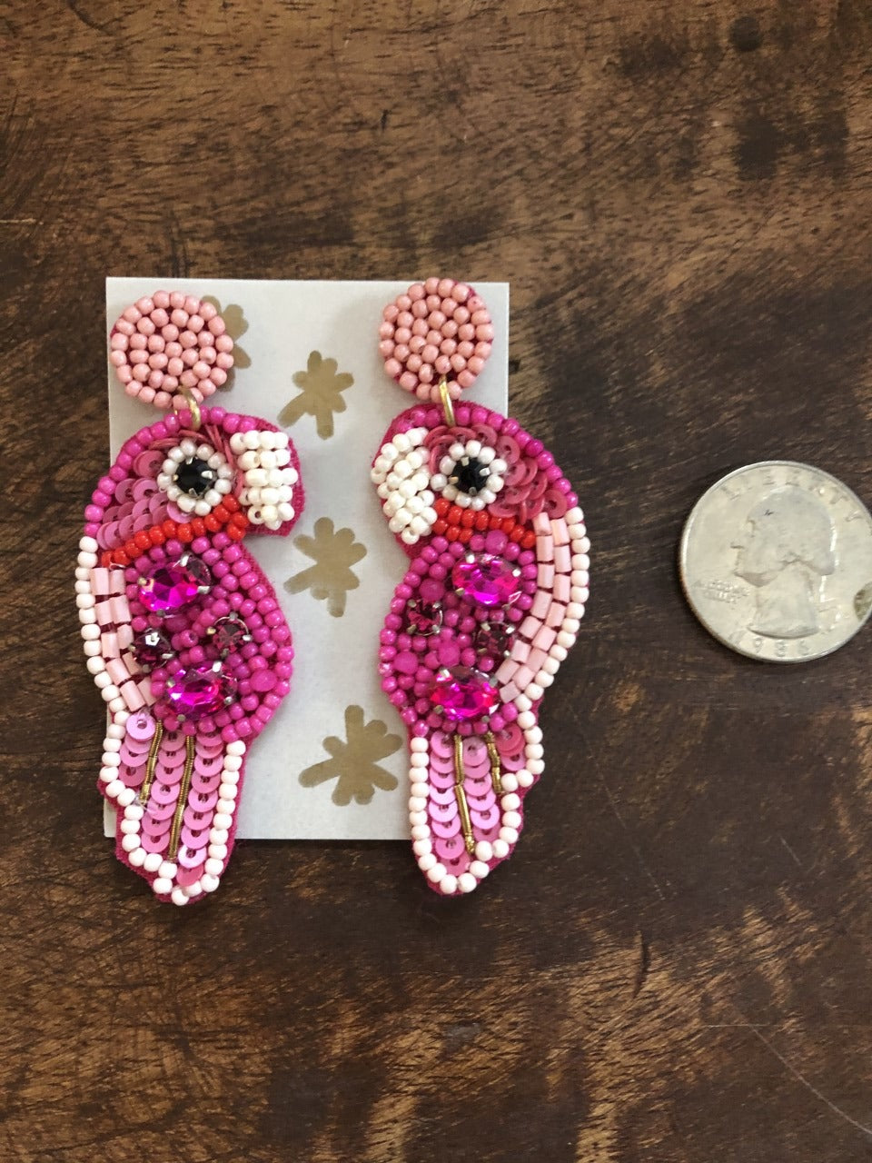 Mini Beaded Parrot in Pink