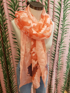 Shanghai Night Scarf in Coral