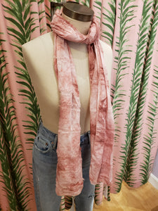 Watercolor Scarf in Pink