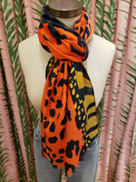 Load image into Gallery viewer, Animal Scarf in Orange