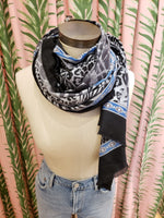 Load image into Gallery viewer, Multi Animal Scarf in Black/Grey