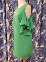 Load image into Gallery viewer, Open Shoulder Dress in Green