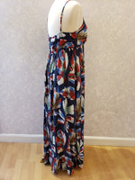 Load image into Gallery viewer, Printed Maxi Dress in Navy