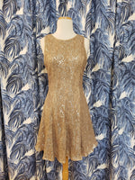 Load image into Gallery viewer, Clarissa Woven Lace Dress in Nude