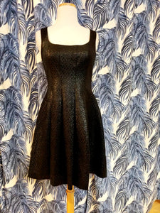 Princess Seam Woven Cocktail Dress in Black