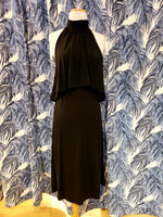Load image into Gallery viewer, Turtleneck Halter Dress in Black