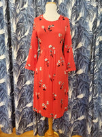 Load image into Gallery viewer, Alison Long Sleeve Woven Dress in Red Floral