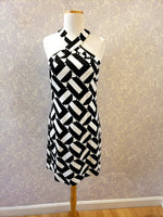 Load image into Gallery viewer, Fabiana Dress in Black/White Print