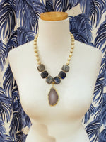 Load image into Gallery viewer, Riverstone, Labradorite & Agate Necklace